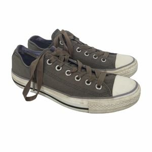 Converse dark green low top sneakers satin laces